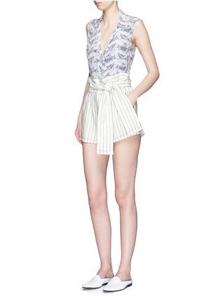 Figure View - Click To Enlarge - Equipment - 'Sleeveless Keira' tropical print silk shirt