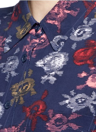 Detail View - Click To Enlarge - Equipment - 'Brett' static floral print silk shirt