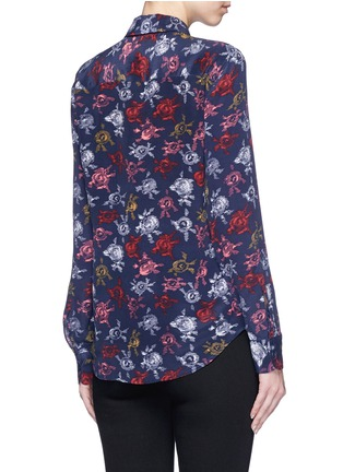 Back View - Click To Enlarge - Equipment - 'Brett' static floral print silk shirt