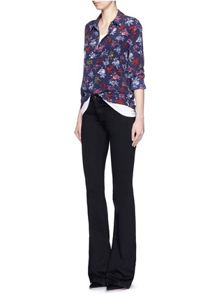 Figure View - Click To Enlarge - Equipment - 'Brett' static floral print silk shirt