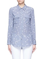 'Slim Signature' star print silk shirt