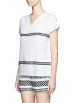 'Freya' tibeb embroidery V-neck T-shirt