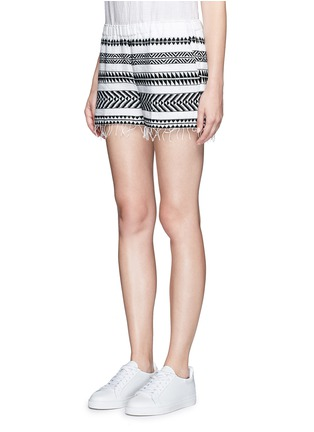 Front View - Click To Enlarge - Lemlem - 'Freya' tibeb embroidery shorts