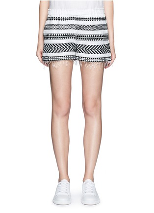 Main View - Click To Enlarge - Lemlem - 'Freya' tibeb embroidery shorts