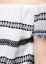 'Freya' tibeb embroidery off-shoulder jumpsuit