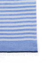 'Selina' contrast stripe cotton-blend wrap