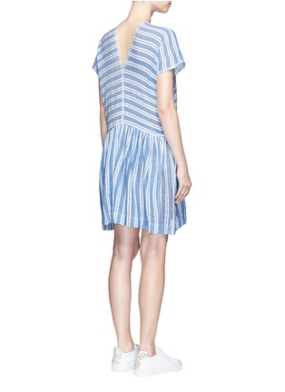 Back View - Click To Enlarge - Lemlem - 'Selina' stripe V-neck cotton dress