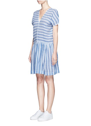 Front View - Click To Enlarge - Lemlem - 'Selina' stripe V-neck cotton dress