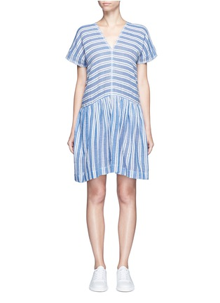 Main View - Click To Enlarge - Lemlem - 'Selina' stripe V-neck cotton dress