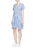 'Selina' stripe V-neck cotton dress