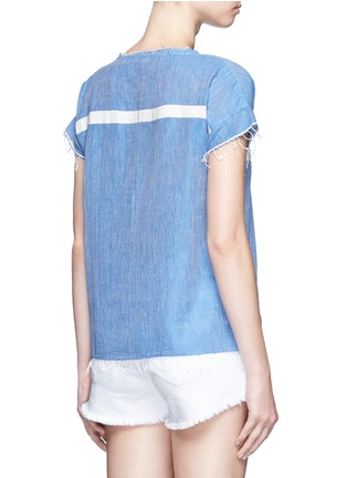 Back View - Click To Enlarge - Lemlem - 'Nadia' stripe V-neck T-shirt
