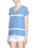 'Nadia' stripe V-neck T-shirt