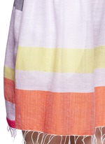 'Hali' stripe cotton beach dress