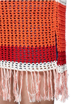 Detail View - Click To Enlarge - Lemlem - 'Kidan' stripe waffle knit cover-up