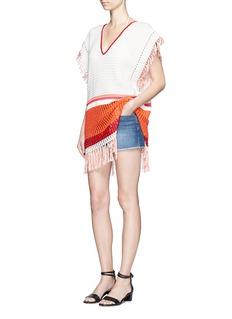 Lemlem'Kidan' stripe waffle knit cover-up