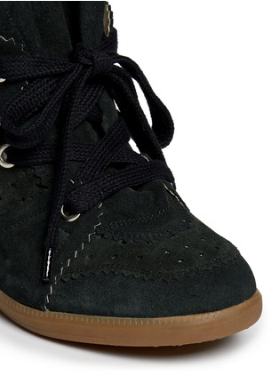 Isabel Marant Étoile - 'Bobby' perforated suede concealed wedge sneakers