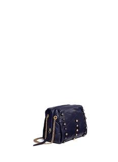 LANVIN'Baby Sugar' mini metal pearl leather crossbody bag