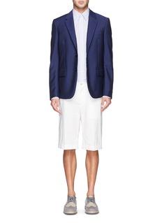 Alexander McQueenHarness stripe cotton poplin shirt