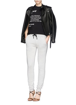 Figure View - Click To Enlarge - ANNA K - 'Classy' slogan T-shirt
