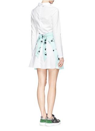 Back View - Click To Enlarge - ANNA K - Eye print apron poplin shirt dress