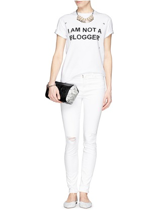 Figure View - Click To Enlarge - ANNA K - 'I Am Not A Blogger' slogan T-shirt