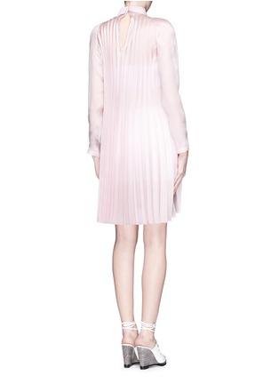 Back View - Click To Enlarge - ANNA K - Plissé pleat silk shirt dress