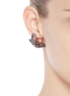 Erickson Beamon 'Bucky Ball' crystal pavé star stud earrings