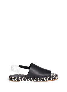 PROENZA SCHOULER Slingback leather espadrille sandals