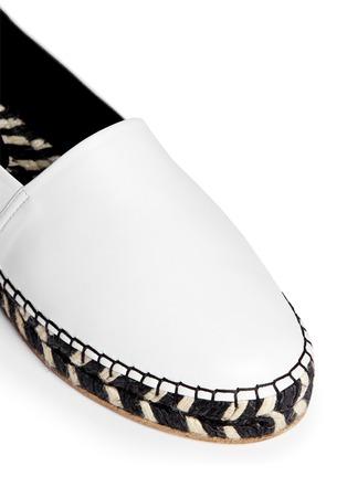 细节 - 点击放大 - PROENZA SCHOULER - 真皮草织平底便鞋