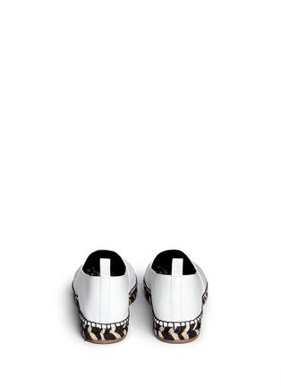 背面 - 点击放大 - PROENZA SCHOULER - 真皮草织平底便鞋