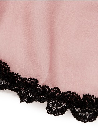 细节 - 点击放大 - FLEUR DU MAL - 'Babydoll' lace trim silk chiffon mini slip