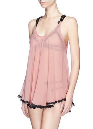首图 - 点击放大 - FLEUR DU MAL - 'Babydoll' lace trim silk chiffon mini slip