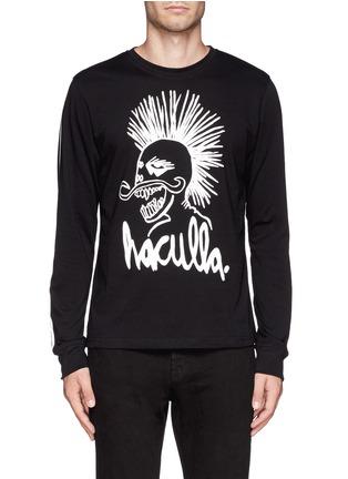 首图 - 点击放大 - HACULLA - 人像字母图案长袖T恤