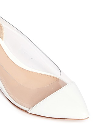 Detail View - Click To Enlarge - Gianvito Rossi - Clear PVC patent leather flats
