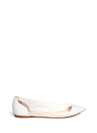 Main View - Click To Enlarge - Gianvito Rossi - Clear PVC patent leather flats