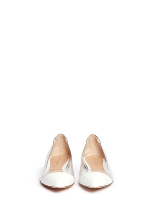 Figure View - Click To Enlarge - Gianvito Rossi - Clear PVC patent leather flats