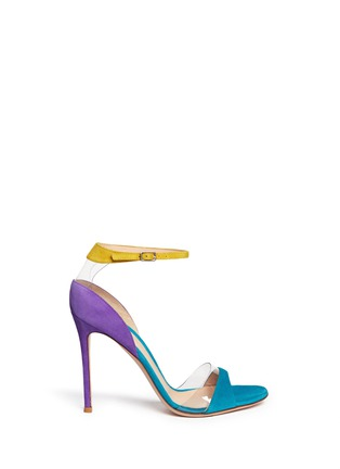 Main View - Click To Enlarge - Gianvito Rossi - PVC trim colourblock suede sandals