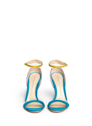 Figure View - Click To Enlarge - Gianvito Rossi - PVC trim colourblock suede sandals