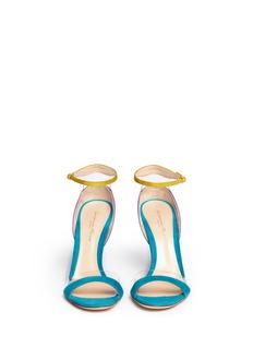 GIANVITO ROSSIPVC trim colourblock suede sandals
