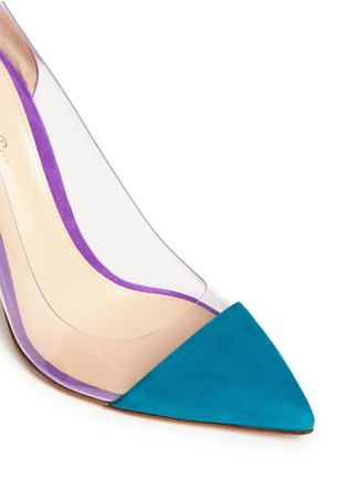 Detail View - Click To Enlarge - Gianvito Rossi - Clear PVC suede pumps