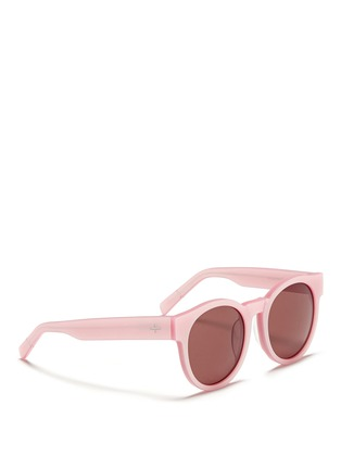 Figure View - Click To Enlarge - BLANC & ECLARE - 'Shanghai' pearlescent acetate round sunglasses