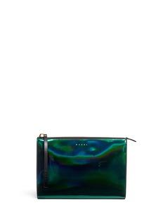 MARNI'Kori' hologram mirror leather clutch