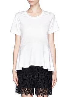 CHLOÉPattern peplum T-shirt