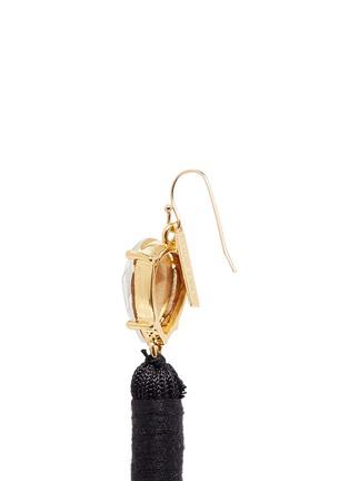 Detail View - Click To Enlarge - Mignonne Gavigan New York - 'Josie' crystal stud tassel drop earrings