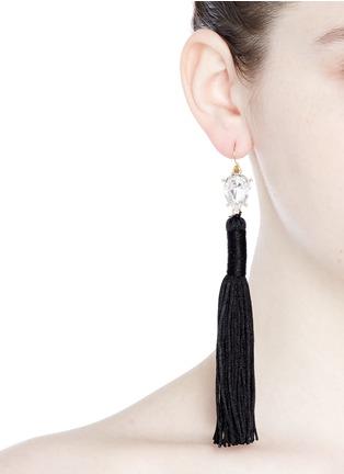 Figure View - Click To Enlarge - Mignonne Gavigan New York - 'Josie' crystal stud tassel drop earrings