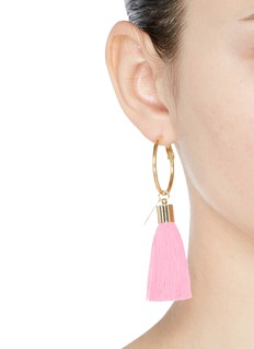 Mignonne Gavigan New York'Lily' detachable tassel gold plated hoop earrings