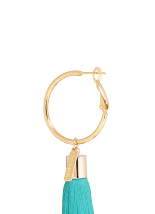 Detail View - Click To Enlarge - Mignonne Gavigan - 'Lily' detachable tassel gold plated hoop earrings