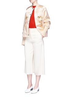Ms MINDragon embroidered satin bomber jacket