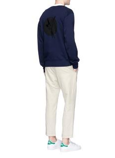 Stella McCartneySwallow appliqué cotton sweatshirt