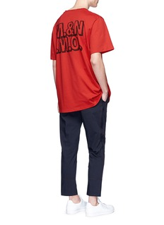 Stella McCartneyCat slogan print organic cotton T-shirt